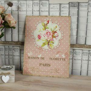 A-rose-rosa-metallo-floreale-placca-a-muro-shabby-chic-vintage-arte