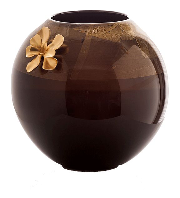Gia Globe Vases - Traditional Transitional Vases - Dering Hall -- matte gold ornament