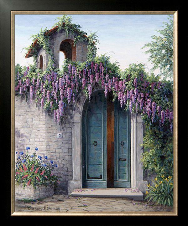New Diy diamond painting kits set handcraft Garden Cottage flower tree sky oil painting diamond mosaic pasted decorative
