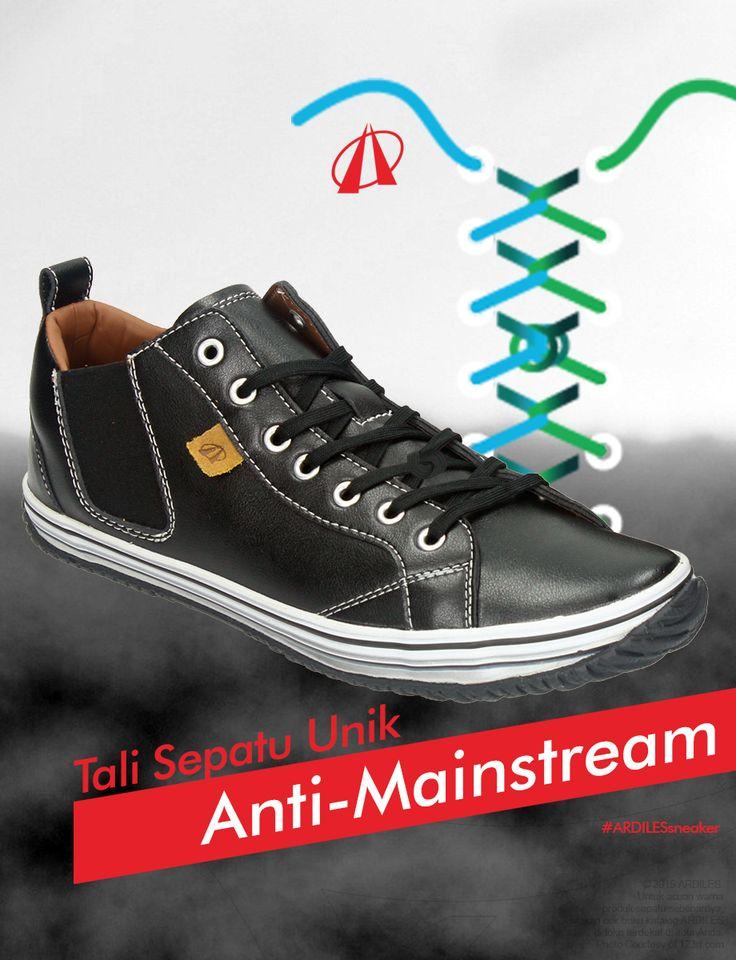 Ardiles Sneakers lovers, kalau kamu bosan dengan model tali sepatumu yang itu-itu aja yuk coba buat tali Knotted Segment Lacing pasti kamu lebih keren.  Sekarang tambah koleksi sneakersmu dengan belanja sneakers ARDILES di www.ardilesmetro.com