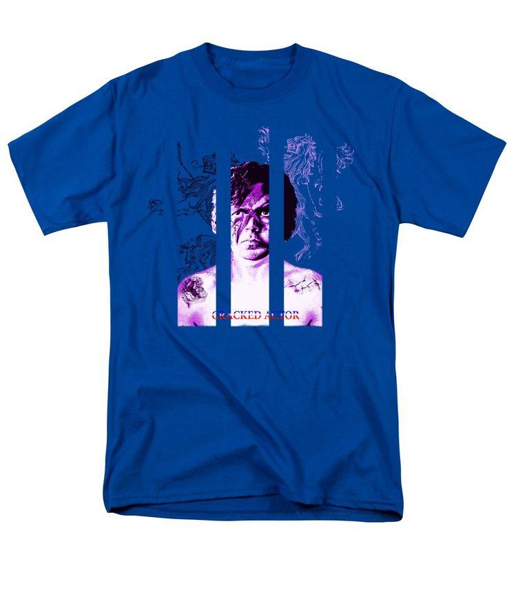 'Cracked actor' - Men's T-Shirt (Regular Fit) @pixelscom #pixelscom #tees #styles #menswear #casualwear #shopping #chill #fantasy #got #aladdinsane #parody #rock #art #artwork #humour #davidbowie #tyrionlannister #tyrion #crackedactor #tshirts #mashup #tvseries #albums #thinwhiteduke #bowie #hearmeroar