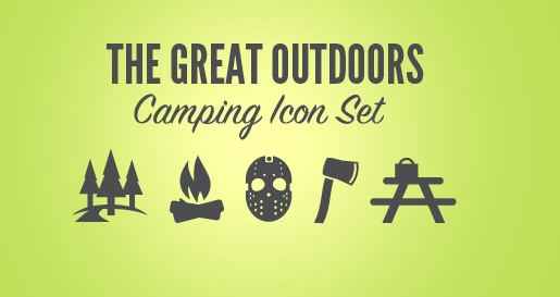 outdoors/camping icons