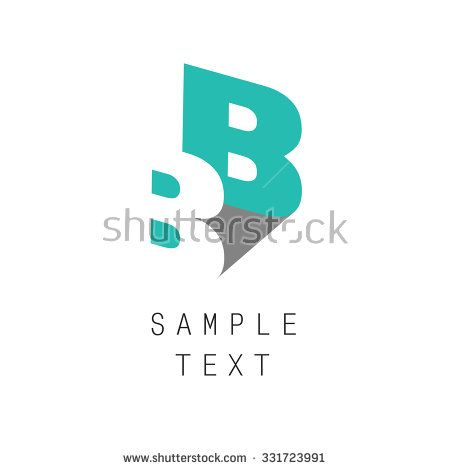 Double letter B icon for corporate identity, element for sign and logo