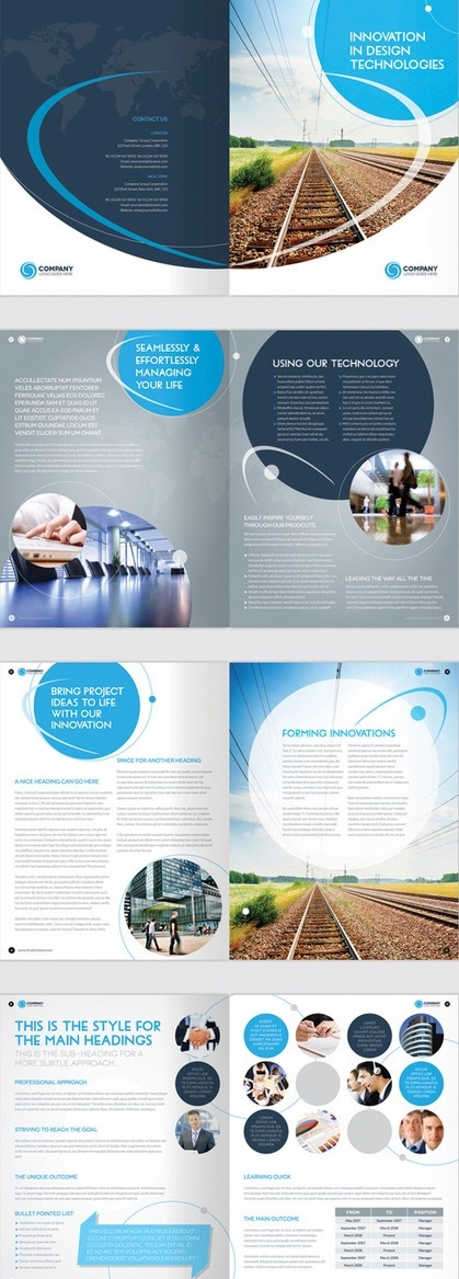 Best ProjectFour Images On Pinterest Blue And Some People - 8 page brochure template