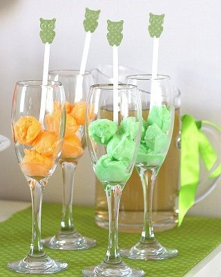 baby shower themed food | Even our baby shower drinks are color coordinated to the shower. These ...