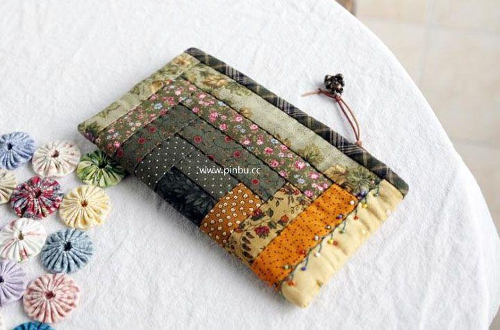 小木屋拼布笔袋-拼布网