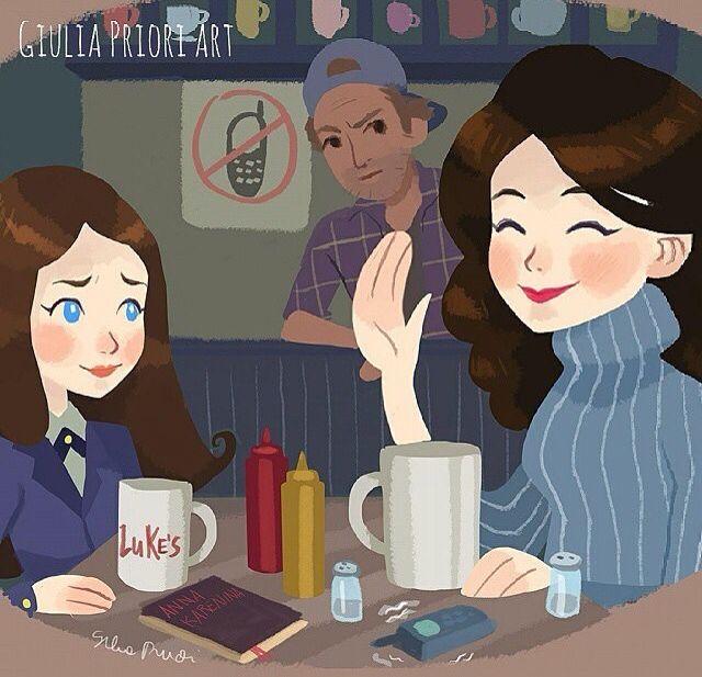 Gilmore girls fan art                                                                                                                                                                                 Mais