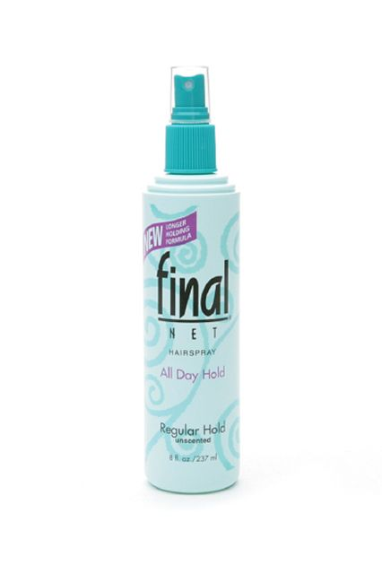 Scary-Good Beauty Buys Under $15 #refinery29  http://www.refinery29.com/good-cheap-beauty-buys#slide26   This spray doesn't add a halo of potentially unwanted fragrance, and it holds for several hours without feeling crunchy or creating helmet-hair. And, it's so light that even those with fine hair can gain control of wayward strands.