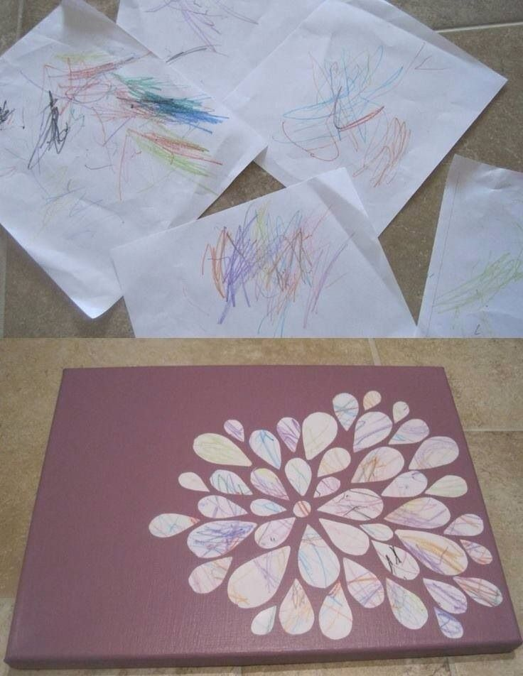 Things to do with toddler scribbles