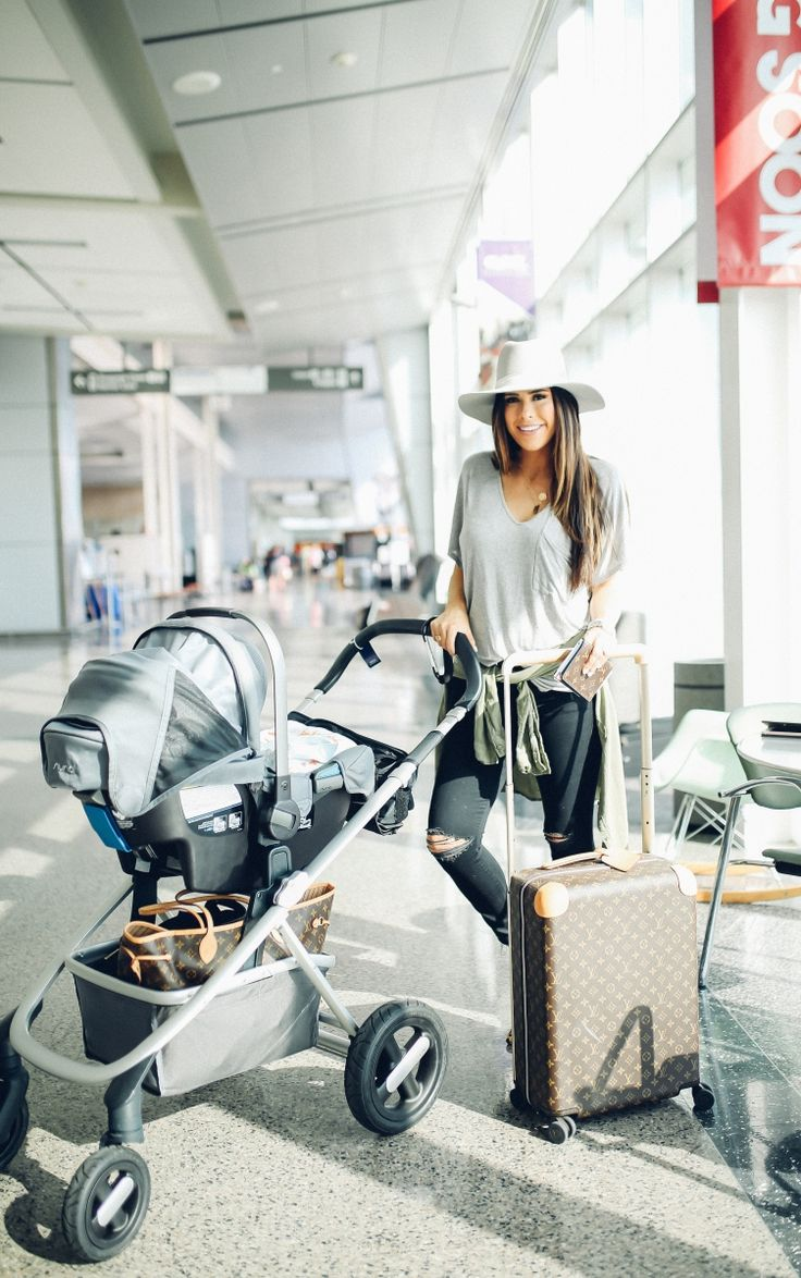 JULY 7, 2017 Travel With Me + 5 Tips For Traveling With Baby - TEE: Lush | OLIVE BUTTONDOWN: BP | DENIM: Mother | LEOPARD FLATS: Sam Edelman | NECKLACES: Kate Spade, Etsy | HAT: Janessa Leone | HANDBAG: Louis Vuitton Neverfull GM