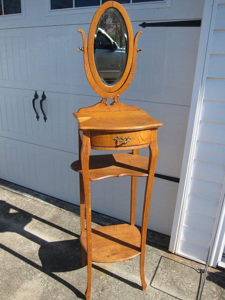 Oak Antique Shaving Stand Antique Shaving Stand