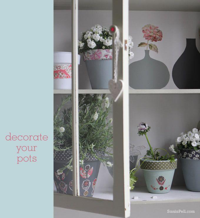 Quick Idea : Liberty Plant Pots   Sania Pell   Freelance Interior Stylist,  Consultant And Creative Director, London