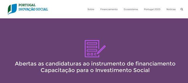 Inovação Social  Candidaturas (21 de março a 19 de junho)
