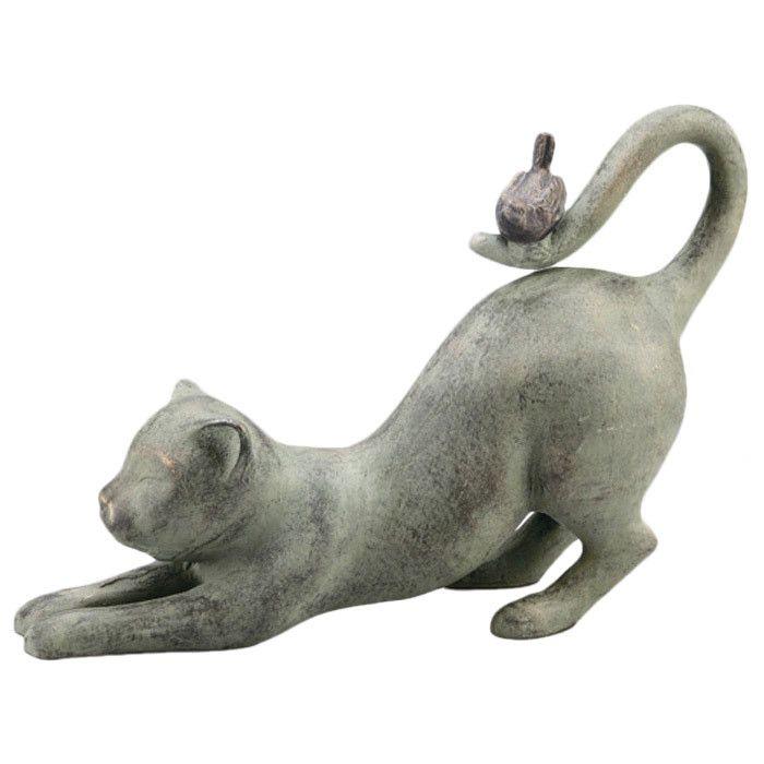 cute cat statue