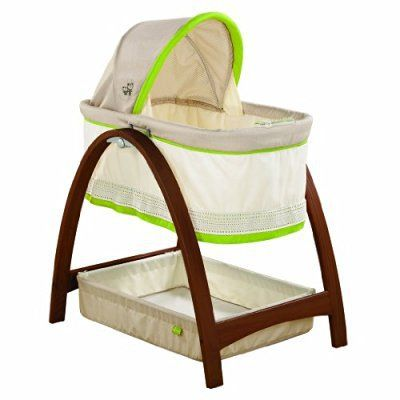 SUMMER INFANT BENTWOOD BASSINET WITH MOTION!!