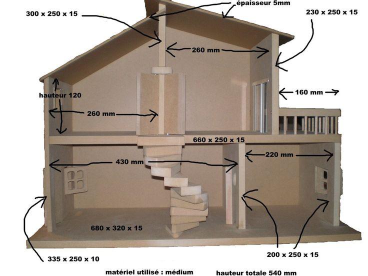 Les 25 meilleures id es de la cat gorie plans de maison de poup e sur pinterest diy maison - Plan de maison de barbie ...