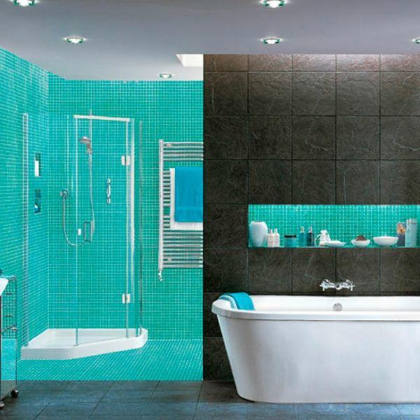 Beautiful salle de bain noir bleu gallery amazing house design getfitamerica us