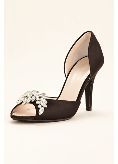 How cute is this peep toe wedding heel from the Wonder by Jenny Packham  collection from