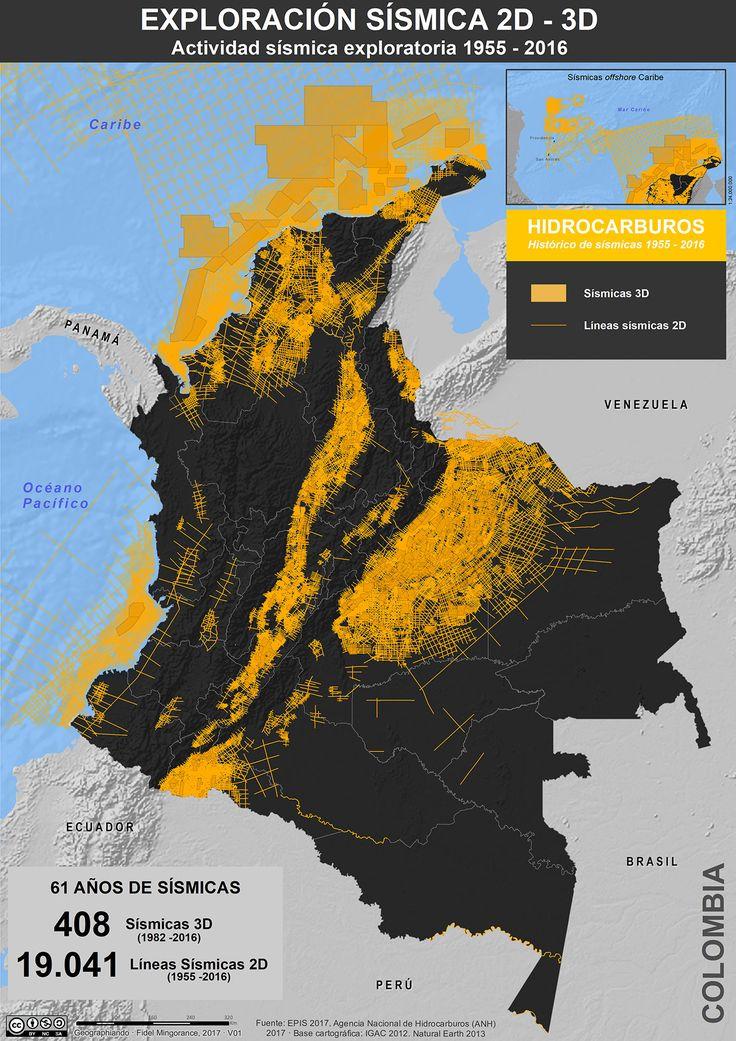 Exploración sísmica en Colombia, 1955-2016