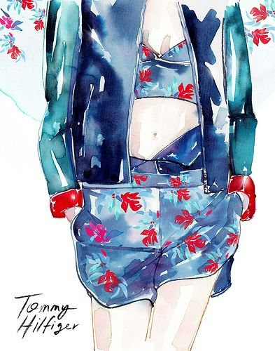 Check out the full slideshow of fashion week illustrations on luckymag.com.