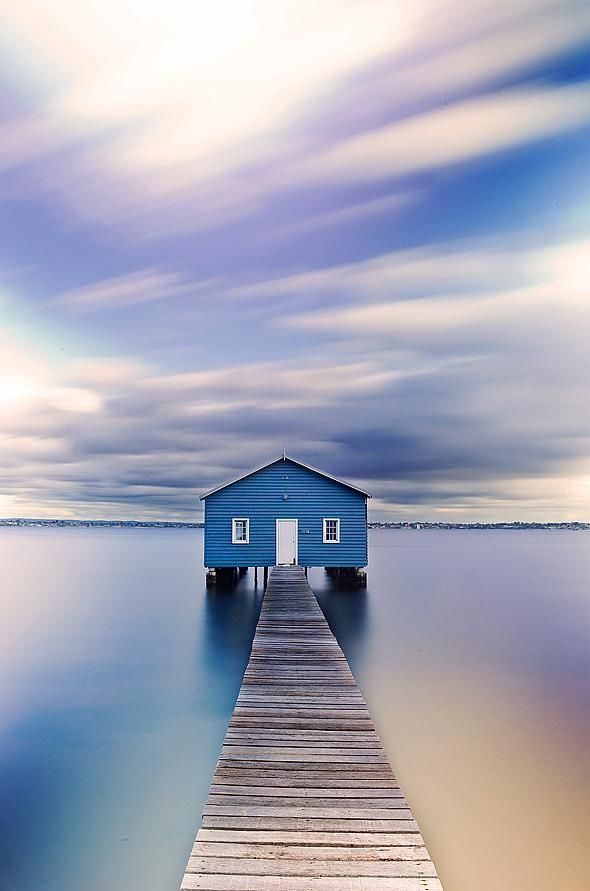 Matilda Bay Boat House Long Exposure by Kirk Hille