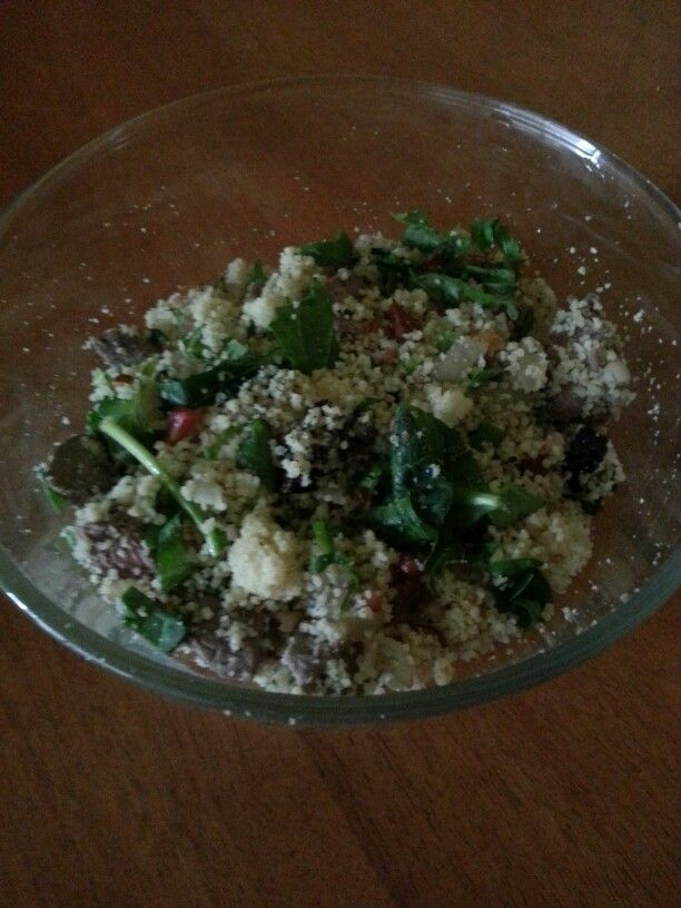 Lamb and pomegranate couscous salad