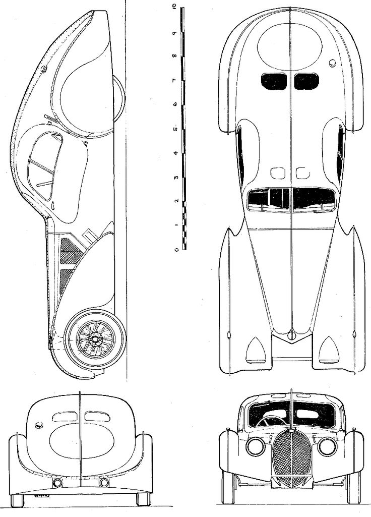 1938 bugatti type 57sc coupe blueprint