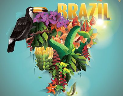 """Check out new work on my @Behance portfolio: """"Vector Illustration """"Welcome to Brazil"""""""" http://be.net/gallery/36101277/Vector-Illustration-Welcome-to-Brazil"""