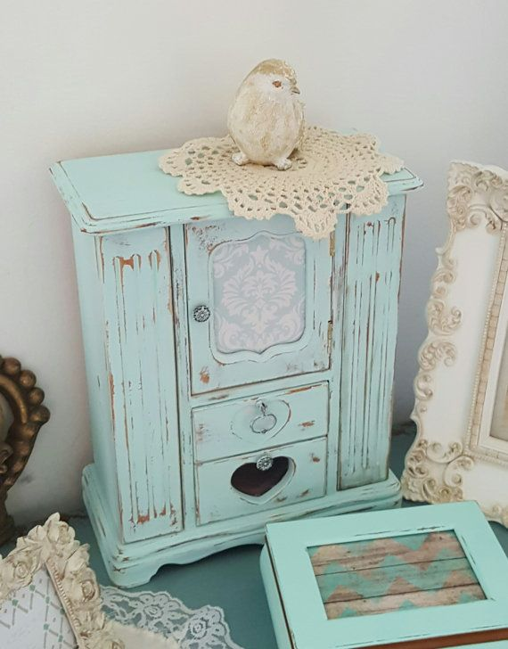 images of decorating with robins egg blue shabby chic | Robin Egg Blue Jewelry Armoire Shabby Cottage by ...