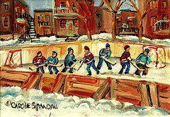 CAROLE SPANDAU Hockey Rink in Montreal