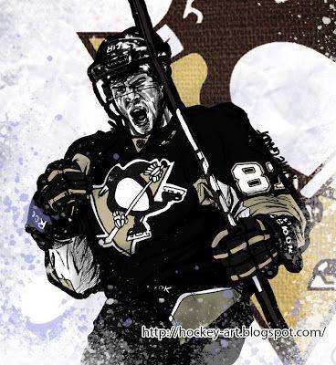 Nate Gandt, Sidney Crosby. Hockey in art: May 2013