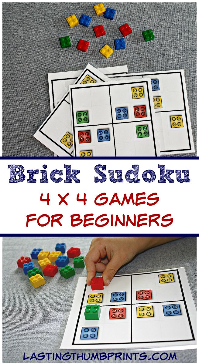 These free brick sudoku games are perfect to keep little hands busy and minds growing! They can be used as worksheets or with your favorite bricks.