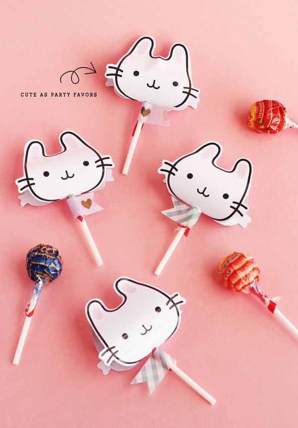 Ohhh <3 Imprimible para poner en los chupachups // Bunnies lollipop covers... an adorable free printable for Easter treats!