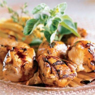Brochettes de poulet, sauce érable et balsamique - Recettes 5-15 - Recettes express 5/15 - Pratico Pratique