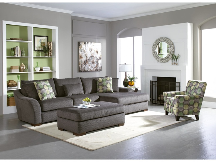 Oasis Grey 2 PC Sectional   American Signature Furniture....if Only. Living  Room ... Part 77