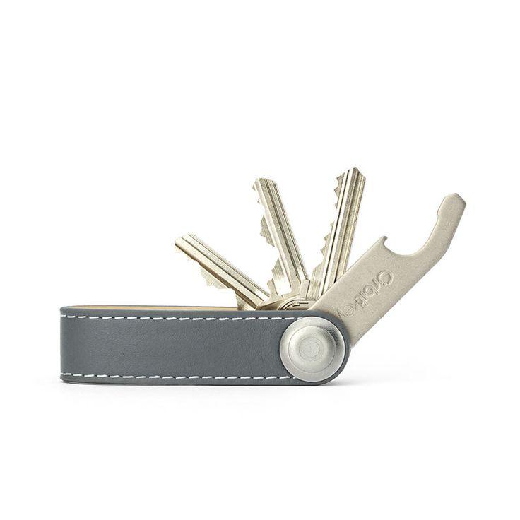 top3 by design - Orbitkey - orbitkey leather grey wht stit