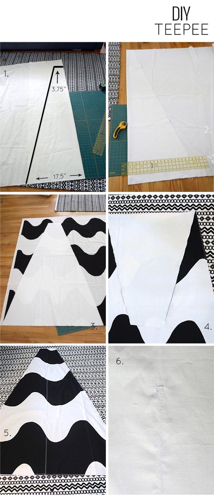 DIY 5 Panel Teepee