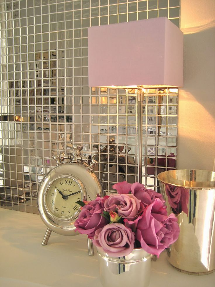 Pantone color of the year 2014 radiant orchid decor love this mirrored tile