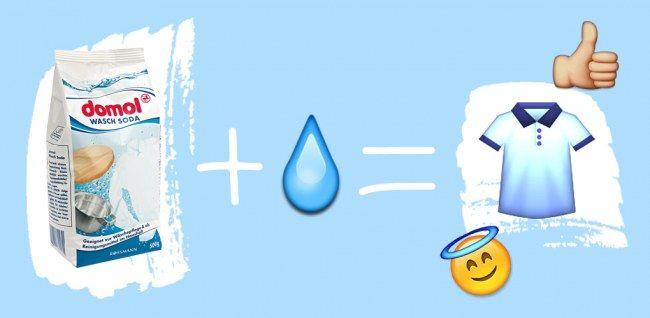 Tipps gegen Schweißgeruch: Kleidung mit Waschsoda einweichen