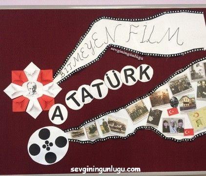 """Bitmek tükenmek bilmeyen filmdir bizimkisi; çünkü Atatürk sevdasıdır bizimkisi… Cumhuriyet çocuklarıyız biz çok çalışıyoruz, çünkü Atamız öyle seslendi hep bize """"Ey Türk Çocuğu, daima Çalışkan ol!"""" M.Kemal Atatürk Bütün okulu donatsak kırmızılarla yinede içimizdeki coşkuyu anlatmaya yetmez yaptıklarımız… Cumhuriyetimizin 93.yılını kutlamanın mutluluğunu yaşarken bize bu mirası bırakanları başta Mustafa Kemal Atatürk olmak üzere saygı ve …"""