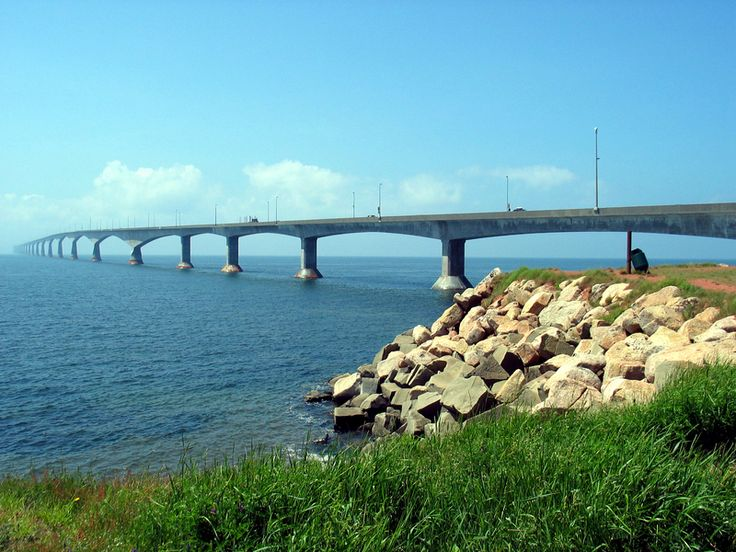 Confederation Bridge joining Prince Edward Island with the mainland.