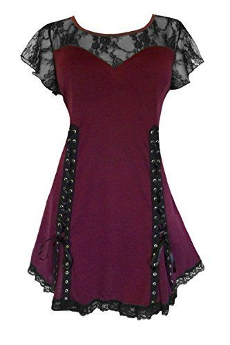 awesome Dare To Wear Victorian Gothic Women's Roxanne Corset Top Burgundy S Dare to Wear...