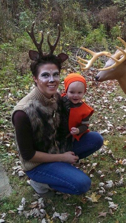 Deer and hunter Halloween costume  sc 1 st  Pinterest & 225 best halloween images on Pinterest | Halloween prop Halloween ...