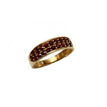 Zlatý granátový prsten - 460