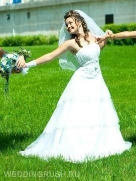 3х уровневая свадебная юбка фото