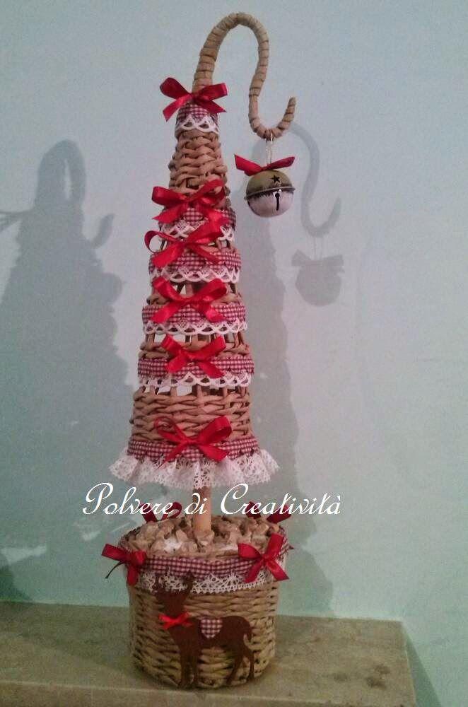 Polvere di creatività: Alberetto di Natale con cannucce di carta