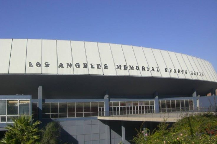 LOS ANGELES SPORTS ARENA currently being demolished to make room for a new soccer stadium. Opened on July 4th, 1960, became home to the Los Angeles Lakers from October 1960 to December 1967. Other teams would follow including the Los Angeles Clippers, Los Angeles Kings, USC Trojans & UCLA Bruins. Los Angeles Football Club (LAFC) is partially owned by actor Will Farrell.