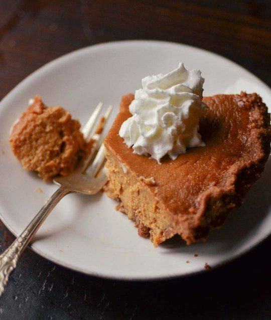 Recipe: Ginger Pumpkin Pie with Graham Cracker Crust — Recipes from The Kitchn (USE GLUTEN FREE GRAHAM CRUST)
