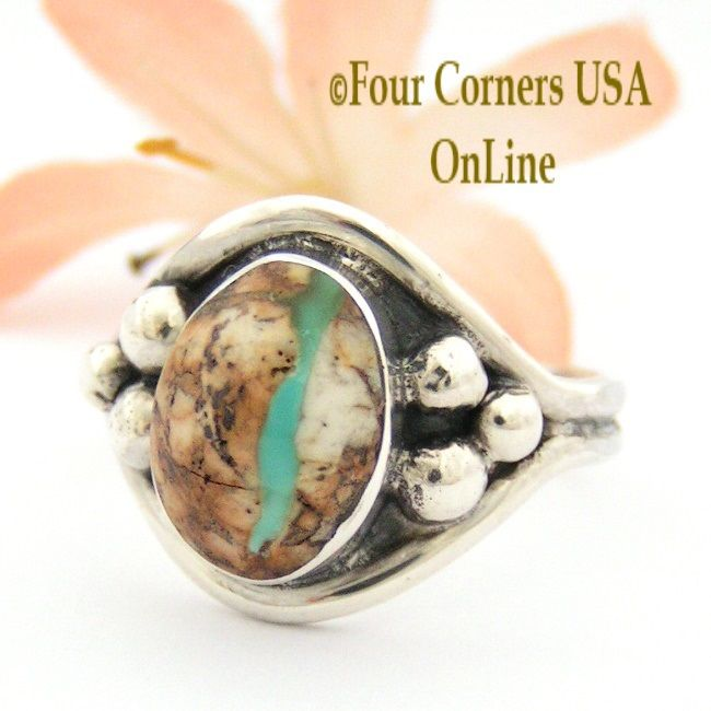 Size 11 1 2 boulder ribbon turquoise ring navajo bobby for Jewelry stores boulder co