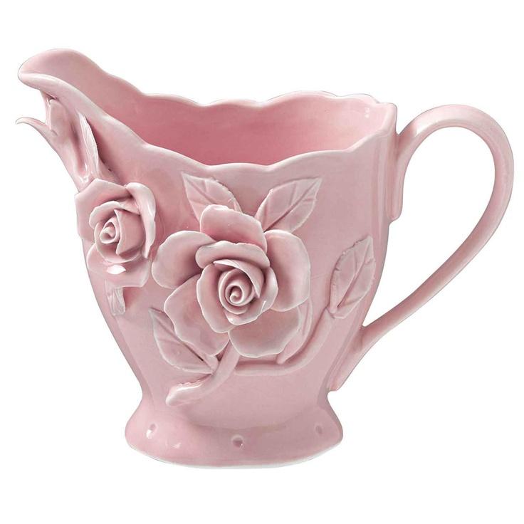 Rambling Rose Milk Jug Pink from Domayne